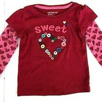 Baby Gap Embellished Sweet Heart Valentine Top Size 3 Years Photo