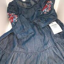 Baby Gap Embroidered Denim Dress 0-3 Months Photo