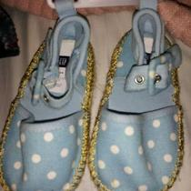 Baby Gap Espadrille Sandals Toddler Size 5 Blue/white Polka Dots  Nwt  Photo
