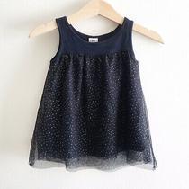 Baby Gap Factory Girls Dress Size 18-24 Mos Navy Blue Sparkly Sleeveless  Photo