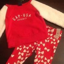 Baby Gap Faux Fur Pullover Size 12 18 Nwt Baby Gap Bow Leggings 18 24 Nwt Photo