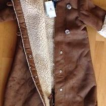 Baby Gap Faux Suede Fur Hooded Bunting Coat Car Seat Up to 17 Lbs Snow Bib Photo