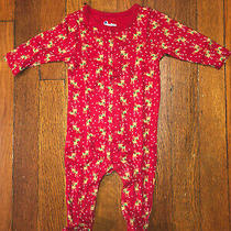 Baby Gap First Favorites Red Christmas Reindeer One Piece Pj Set 0-3 Momths New Photo