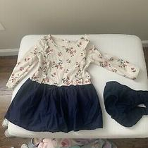 Baby Gap Floral Beiege and Navy Dress 18-24 Months Photo