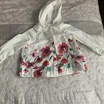 Baby Gap Floral Windbreak/raincoat 6-12 Girls Months Photo
