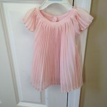 Baby Gap Flutter Pleated Sleeve Top Blush Pink 18-24 Photo