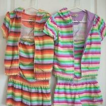 Baby Gap & Gap Outlet Rainbow Strip Terry Rompers & Hoodies Size 5 5t 5 Years Photo