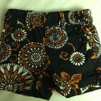 Baby Gap Geometric Flower 12-18 Months Black Brown Photo