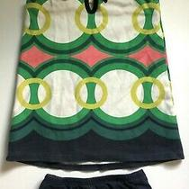 Baby Gap Geometric Print Green Dress With Bloomers Size 18-24 Months Photo