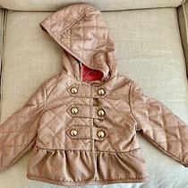 Baby Gap Girl 12-18 Mo Jacket Pink Polka Dot Gold Hooded Photo