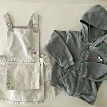 Baby Gap Girl 2ys Embroidered Shorts Overalls Dress & Greendog Zipup Sweater Photo