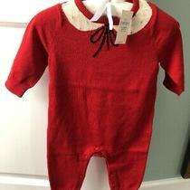 Baby Gap Girl 3-6 Months Red Knitted One Piece Nwt 37 Value Photo