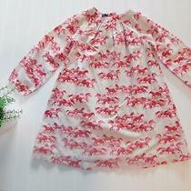Baby Gap Girl 5 Year Ivory W/ Red Wild Horse Cotton Dress Outfit Western Clothes Photo