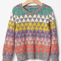 Baby Gap Girl Geometric Fair Isle Sweater Nwt 2t N12 Photo
