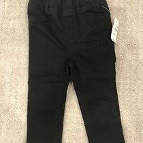 Baby Gap Girl Pull on Jeggings Solid Black Size 12-18 Months Photo