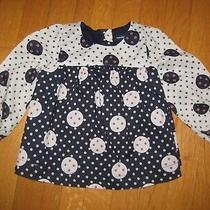 Baby Gap Girl's Blue Tan Polka Dot Dress 6-12 Months Nwt Photo
