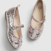 Baby Gap Girl's Pink Glitter Unicorn Mary Jane Ballet Flat Shoes Sz. 10  Nwt Photo