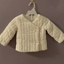 Baby Gap Girl's Quilted Ivory Snap Jacket Coat Size 18-24 Mo Photo