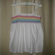 Baby Gap Girl's Rainbow Smocked Summer Tank Top Size 3 Years Photo