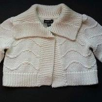 Baby Gap Girls 2t Ivory Sparkle Cardigan Sweater - Holiday Photo