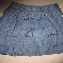 Baby Gap Girls 3t Denim Tiered Skirt  Photo