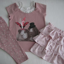 Baby Gap Girls 4t Modern Dance Guinea Pig Top Hat Ruffle Skirt Star Legging Lot Photo