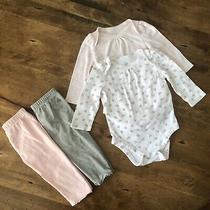 Baby Gap Girls 6-12 Months Leggings & Long Sleeve Bodysuits Photo