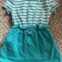 Baby Gap Girls 6-12 Months Teal Stripe Dress Photo