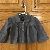 Baby Gap Girls Blue Denim Longsleeves/ 3/4 Sleeves Shirt Size 2t  Cute Pintuck Photo