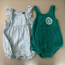 Baby Gap Girls Blue Romper Outfit Cat and Jack  3-6 Months Sea Monster Romper Photo