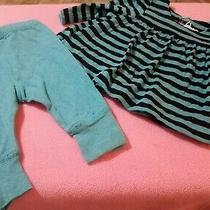 Baby Gap Girls Brannan's Favorites Aqua & Black Top & Pants Set 0-3 M Photo