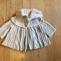 Baby Gap Girls Button Up Sweater Size 6 - 12 Months. Color Ivory Photo