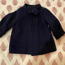 Baby Gap Girls Coat Size 6-12 Months Navy Blue Wool Dressy Photo