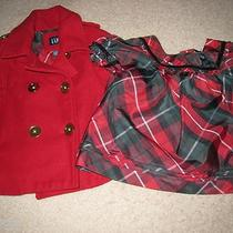 Baby Gap Girls Holiday Lodge Red Cape and Matching Shirt Set Size 18-24 Months Photo