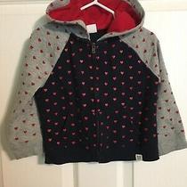 Baby Gap Girls Hooded Jacket 2t Fall Hearts Cozy Photo