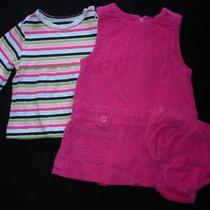 Baby Gap Girls Infant 3 6 Months Dress Top Set Outfit Pink Corduroy Euc Photo