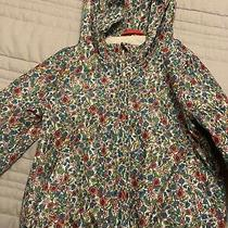 Baby Gap Girls Jacket 3t Zip Up Floral Waterproof Rain Photo