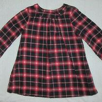Baby Gap Girls Long Sleeve Navy Red White Plaid Lined Dress 18-24 Months Photo