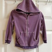 Baby Gap Girls Purple Velour Hoodie W/pockets Zips in Front Size 3 Yrs. Photo