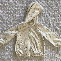 Baby Gap Girls Raincoat Windbreaker Jersey Lined Size 4 White Multicolor Stars Photo