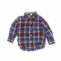 Baby Gap Girls Red Long Sleeve Button-Down Shirt 12-18 Months Photo