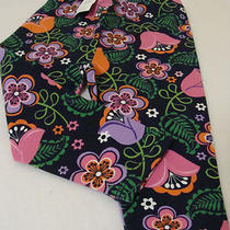 Baby Gap Girls Size 12-18 Mos. Floral Tights/leggings-Nwt-Black/pink/purple Photo