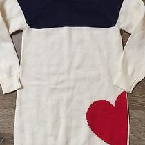 Baby Gap Girls Size 3 Navy Blue Red White Sweater Dress Nwt Photo