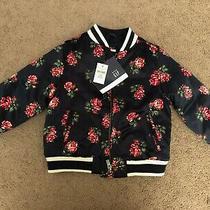 Baby Gap  Girls Size 3 Navy Floral Bomber Jacket Coat/jacket Nwt Photo