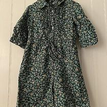 Baby Gap Girls Size 5 Shirtdress Dress Calico Green Floral Photo