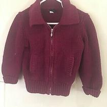 Baby Gap Girls Size  Burgundy Sweater Cardigan 18-24m Photo