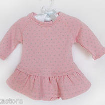 Baby Gap Girls Tiered French Terry Dress With Panties  Sz 0-3 Mos Nwt Photo