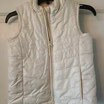 Baby Gap Girls White Puffy Vest Size 5 Sherpa Lined Photo