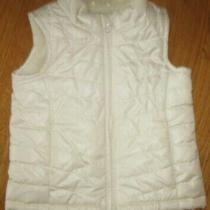 Baby Gap Girls Winter Vest Sleeveless Fleece Lined Coat Cream Size 3 Toddler  Photo