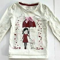 Baby Gap Graphic Print Sparkle Hearts Top Size 3 Years Photo